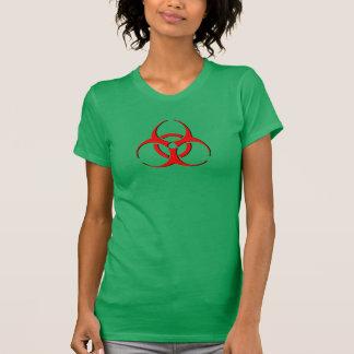 Dangerous logo shirt with biohazard symbol.