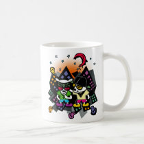 pop, art, graphic, design, dog, animal, night, dark, music, rock, hip-hop, skull, street, colorful, Mug with custom graphic design