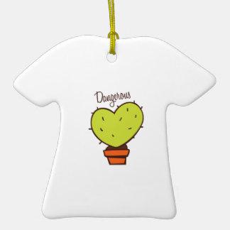 Dangerous Double-Sided T-Shirt Ceramic Christmas Ornament