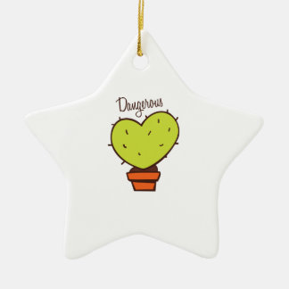 Dangerous Double-Sided Star Ceramic Christmas Ornament