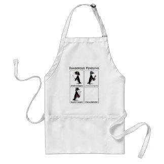 dangerous penguins adult apron