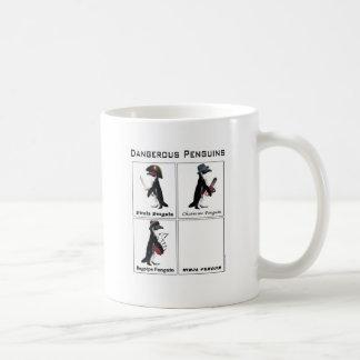 dangerous penguins coffee mug