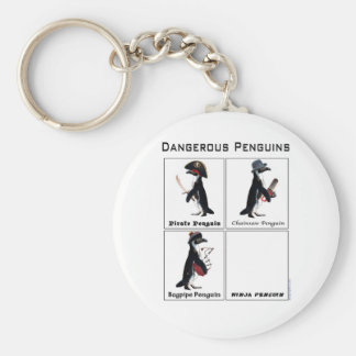 dangerous penguins keychain
