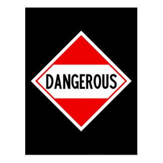 dangerous postcard