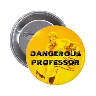 Dangerous Professor - Socrates in Orange Button