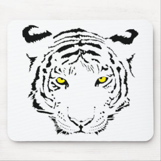 Dangerous, scary yellow eyes Tiger Mouse Pad