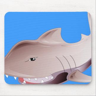 dangerous shark mouse pad