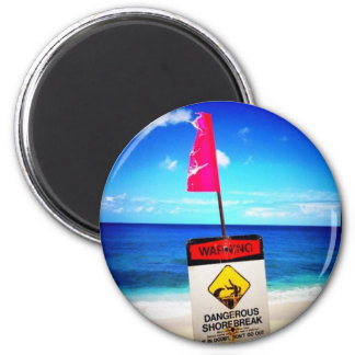 Dangerous shorebreak Photo by Daniela Power 2 Inch Round Magnet