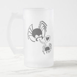 Dangerous Spider Love Frosted Glass Beer Mug