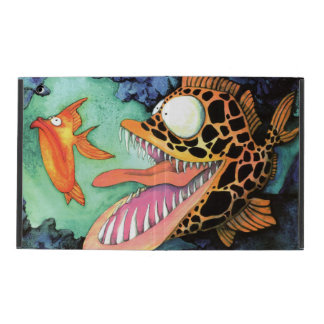 """""""Dangerous Waters"""" Fish Watercolor by Mike Quinn iPad Cover"""