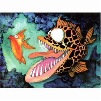 """Dangerous Waters"" Fish Watercolor Mike Quinn Cutout"