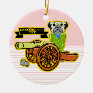 Dangerously Cute Pug Wearing Tracksuit Ceramic Ornament