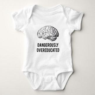 dangerously overeducated baby bodysuit