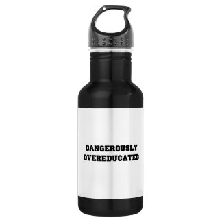 Dangerously Overeducated Stainless Steel Water Bottle