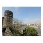 d'Angers del castillo francés - visión sobre el la Postales