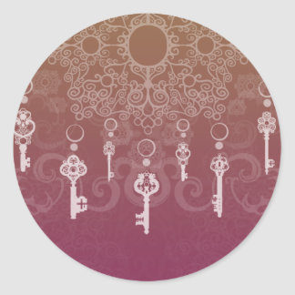 Dangle Keys Classic Round Sticker