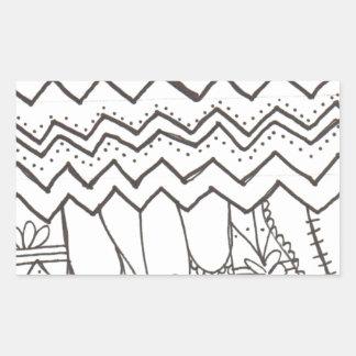 Dangle Pattern Rectangular Sticker