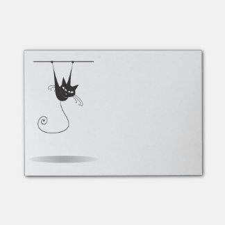 Dangling Black Cat - Post-it Notes