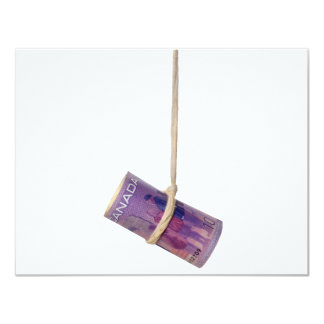 Dangling Canadian dollar Card