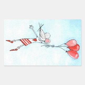 Dangling mouse rectangular sticker