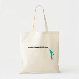 Dangling Participle Book Tote Budget Tote Bag