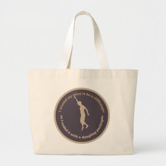Dangling Participle Book Tote Bags