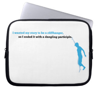 Dangling Participle Computer Sleeve