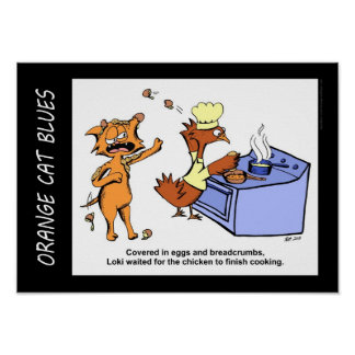 """Dangling Pawticiple"" Comic Strip Poster"