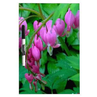 Dangling Pink Heats In The Garden Dry-Erase Boards