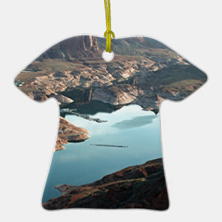 Dangling Rope Marina. Lake Powell, Utah, USA Double-Sided T-Shirt Ceramic Christmas Ornament