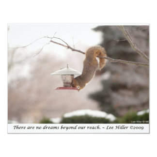 Dangling Squirrel Photo From Lee Hiller Collection 4.25x5.5 Paper Invitation Card