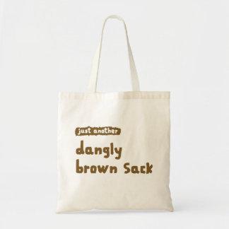 Dangly Brown Sack Budget Tote Bag