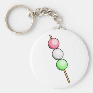 Dango Basic Round Button Keychain