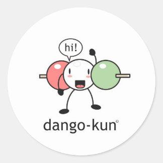 dango-kun classic round sticker