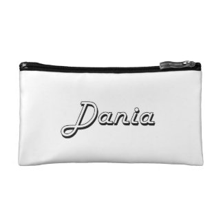 Dania Classic Retro Name Design Cosmetics Bags