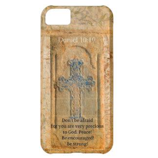 Daniel 10:19 Bible Verse about Discouragement iPhone 5C Cases