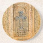 Daniel 10:19 Bible Verse about Discouragement Coasters