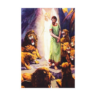 Daniel 6 God Protects Daniel from Harm Canvas