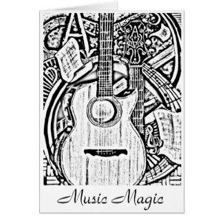 daniel alveraz black and white, Music Magic Greeting Card