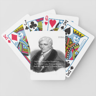 Daniel Boone Humor Quote Gifts Tees Cards Etc Bicycle Playing Cards