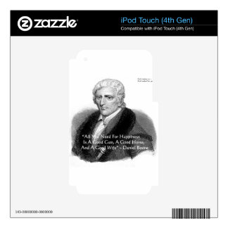 Daniel Boone Humor Quote Gifts Tees Cards Etc Decal For iPod Touch 4G