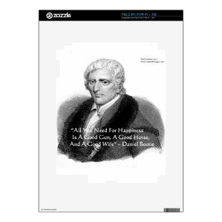 Daniel Boone Humor Quote Gifts Tees Cards Etc Decal For The iPad 2