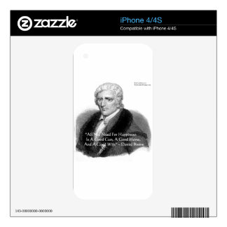 Daniel Boone Humor Quote Gifts Tees Cards Etc iPhone 4S Skin