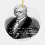 Daniel Boone Humor Quote Gifts Tees Cards Etc Christmas Ornament