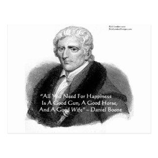Daniel Boone Humor Quote Gifts Tees Cards Etc Postcard