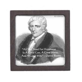 Daniel Boone Humor Quote Gifts Tees Cards Etc Premium Keepsake Boxes