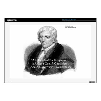 """Daniel Boone Humor Quote Gifts Tees Cards Etc Skins For 17"""" Laptops"""