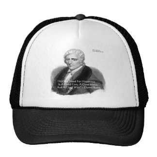Daniel Boone Humor Quote Gifts Tees Cards Etc Trucker Hat