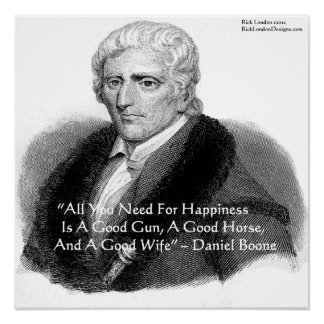 Daniel Boone & Humor Quote Poster Posters