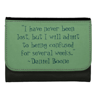 Daniel Boone Lost Quote Wallet